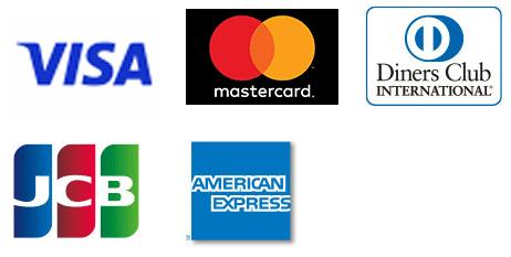 VISA・MasterCard・Diners・JCB・AMEX