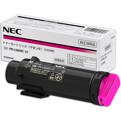 【国内純正】NEC トナーカートリッジ マゼンタ PR-L5800C-12